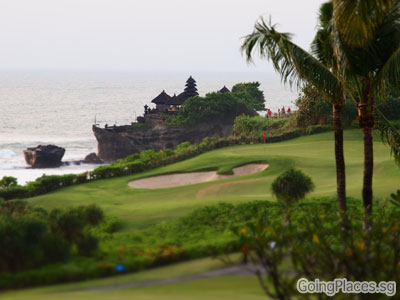 Pan Pacific Bali Golf Course and Tanah Lot