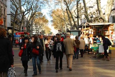 La Rambla, Barcelona by Paulina via https://www.flickr.com/photos/paulinka/4131911658/