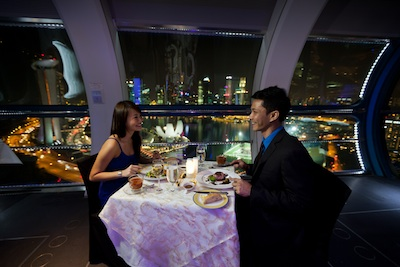 Private Singapore Flyer Sky Dining Capsule. A unique experience that is second to none in Singapore, the Singapore Flyer Sky Dining at Singapore Flyer offers you a brand new dining menu, an in-flight host tending to your every need and captivating views of Marina Bay, .