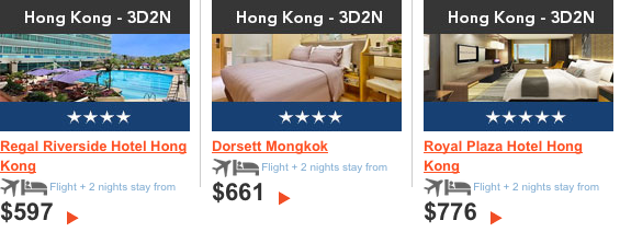 3D2N Zuji Hong Kong Package