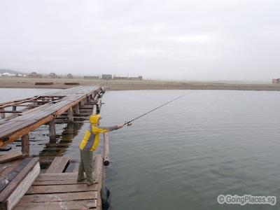 Fishing At Jetty