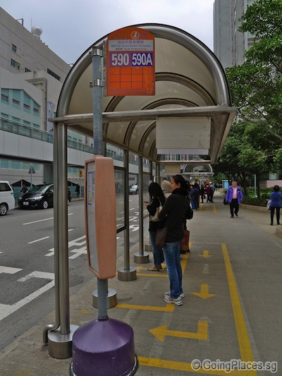 590A Bus Stop at Yee Wan Court