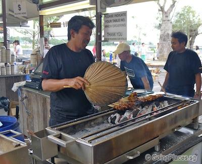 satay by the bay a more wallet friendly option is a rare waterfront food court dining experience dig into hawker favourites including bbq chicken wings