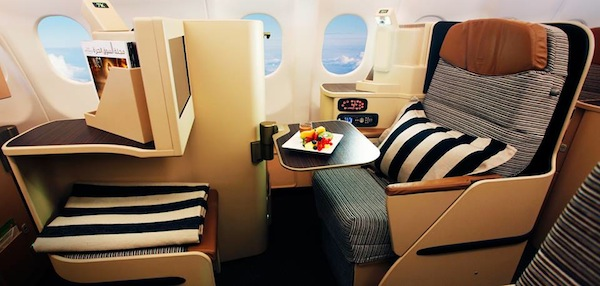 Etihad Airways Business Class Seats
