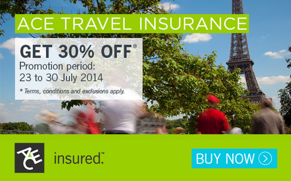 ACE Travel Insurance Pre Natas 2014 Promo