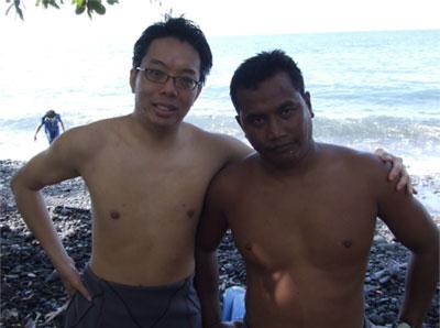 Scuba diving buddy