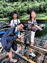 Catching your own dinner at Lake Batur