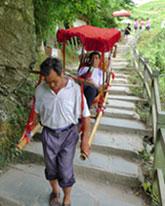 Guilin Longji Rice Terrace human transporter