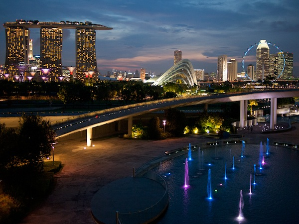 MBS view from Marina Barrage