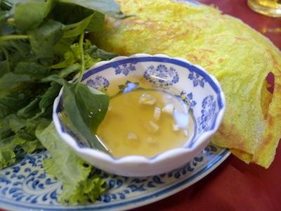 Vietnamese Banh Xeo Crepes