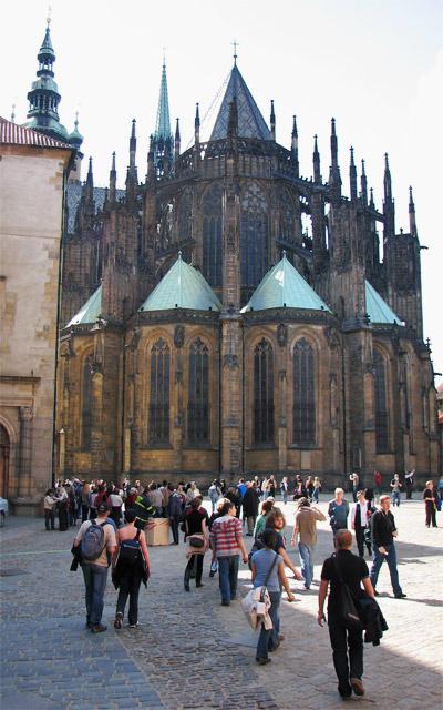 St. Vitus Cathedral, Prague by Katherine Hala via https://www.flickr.com/photos/kahala/2448779365/