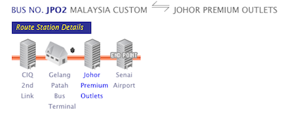 Shuttle Bus to Johor Premium Outlets