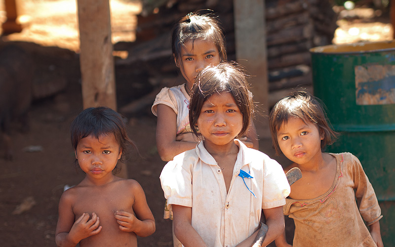 Bolaven minority tribe at Bane Kokphoung (Coffin Village) by GoingPlaces.sg via https://flic.kr/p/aPwGFD