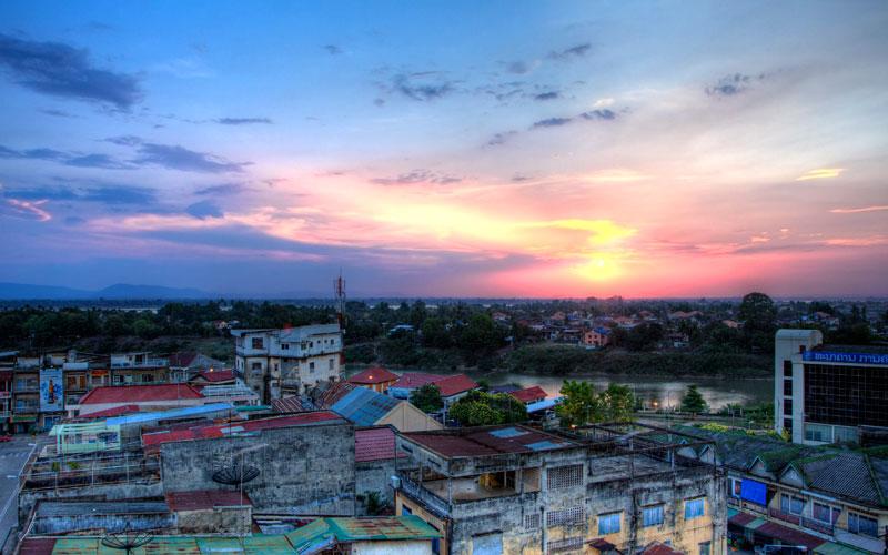 Pakse Sunset by ¡kuba! via https://flic.kr/p/6uKxDq