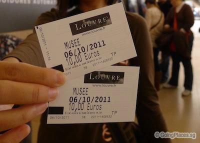 Lourve Entrance Ticket