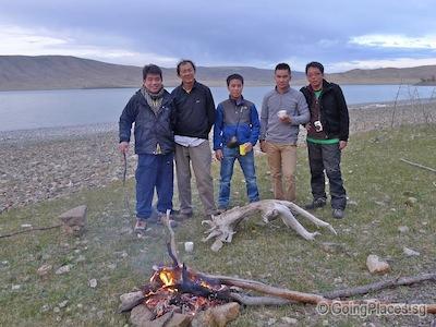 Bonfire At Zuun Lake