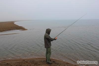 Fishing At Lake Khovsgol