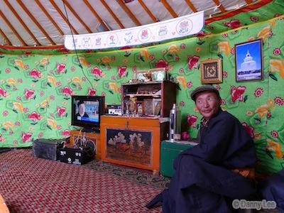 LCD TV in Mongolia Ger