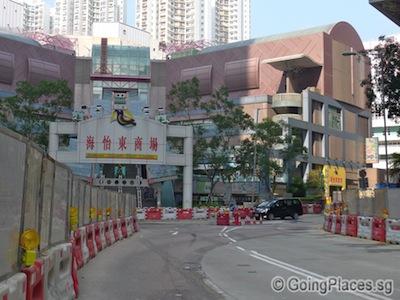 Turning into Marina Square East
