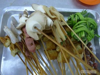 Skewered Meat And Vegetables