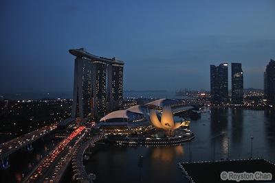 Marina Bay Sands Night View