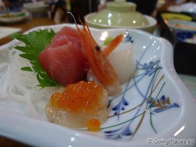 Dinner Sashimi