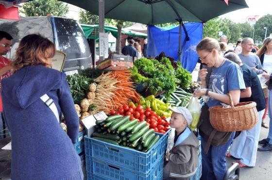 Farmer's Market In Prauge