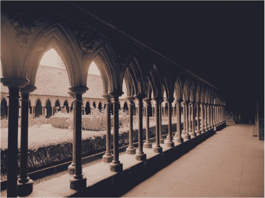 Mont Saint Michel Abbey The Cloister