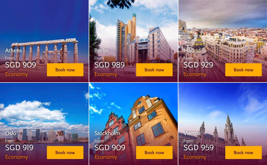Qatar Airways Fares Promo August 2018 - Athen, Berlin, Madrid, Oslo, Stockhlom and Vienna
