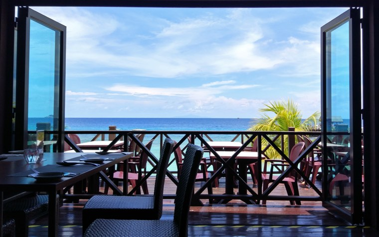 View from Pawana Restaurant at Tunamaya Resort, Tioman Island
