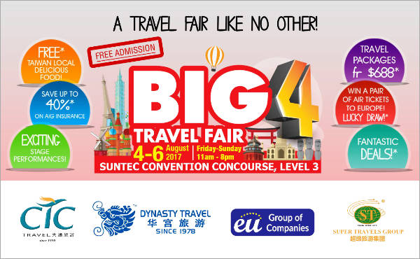 Big 4 Travel Fair at Suntec City