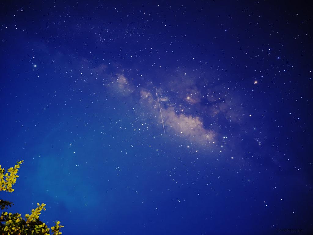 The Milky Way and meteor at Tioman Tunamaya Resort