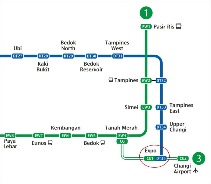 Expo MRT Station CG1 & DT35