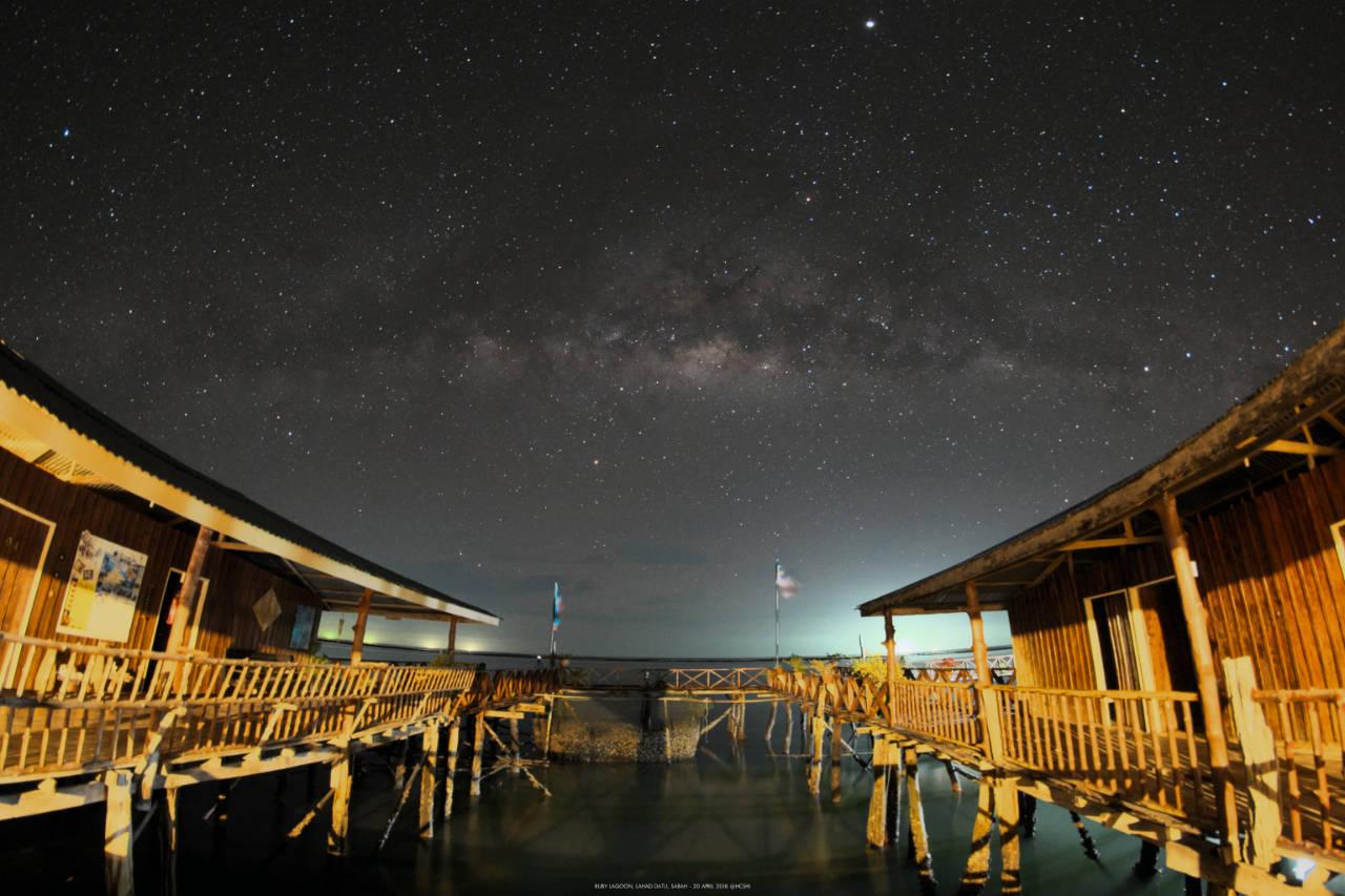 Milky Way at Ruby Lagoon, Lahad Datu, Sabah