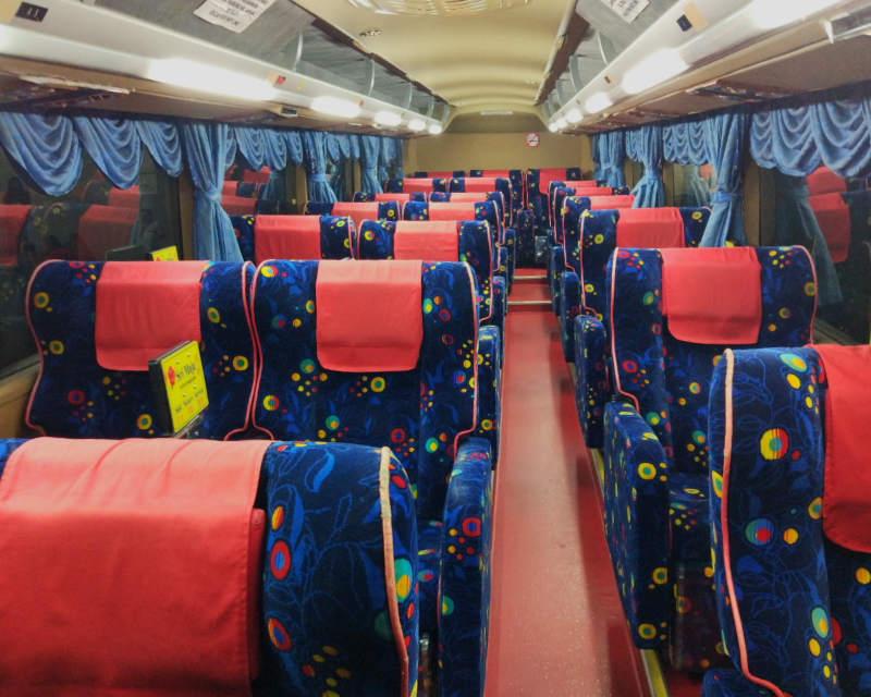 Sri Maju 21-seater Express Bus Interior